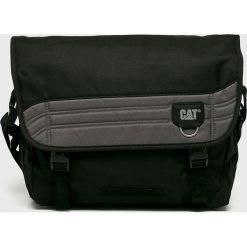 Caterpillar - Torba Aron. Czarne torby na laptopa marki Caterpillar, w paski, z materiału. Za 189,90 zł.