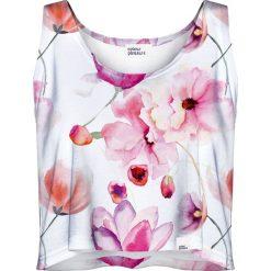 Colour Pleasure Koszulka damska CP-035 156 biało-różowa r. M/L. Białe bluzki damskie marki Colour pleasure, l. Za 64,14 zł.