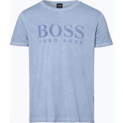 T-shirty męskie z nadrukiem: BOSS Casual – T-shirt męski – Tomlouis, niebieski