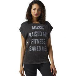 Reebok Koszulka damska Stone Wash Tee czarna r. L (BR4332). Szare topy sportowe damskie marki Reebok, l, z dzianiny, casualowe, z okrągłym kołnierzem. Za 149,90 zł.