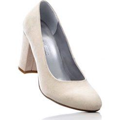 Buty ślubne damskie: Czółenka bonprix pudrowy