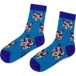 Skarpety Wysokie Unisex FREAK FEET - LWIL-FBL Niebieski. Niebieskie skarpetki męskie marki Freak Feet, w kolorowe wzory, z bawełny. Za 19,99 zł.