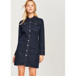 Jeansowa sukienka - Niebieski. Niebieskie sukienki marki Reserved, z jeansu. Za 139,99 zł.