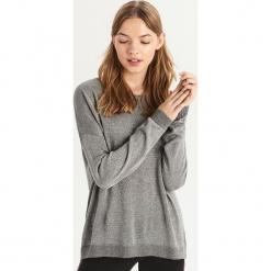 Sweter oversize - Srebrny. Szare swetry oversize damskie marki Sinsay, l. Za 49,99 zł.
