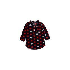 Bluzki asymetryczne: bluzka damska klasyczna w groszki