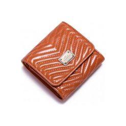 Portfele damskie: Nucelle Niewielkich rozmiarów damski portfel Pomarańczowy