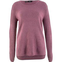 Sweter z puszystej przędzy bonprix matowy jeżynowy - czarny. Czerwone swetry klasyczne damskie bonprix. Za 54,99 zł.