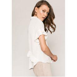 Answear - Koszula. Szare koszule damskie marki ANSWEAR, l, z poliesteru, casualowe, z klasycznym kołnierzykiem, z krótkim rękawem. W wyprzedaży za 99,90 zł.