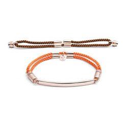 Bransoletki damskie: Zestaw: bransoletka w kolorze różowego złota + wymienny element (2 szt)