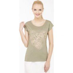 T-shirt w stylu safari. Szare t-shirty damskie Monnari, z bawełny. Za 34,65 zł.