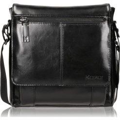 Czarna torba przez ramię. Czarne torby na ramię męskie Kazar, w paski, przez ramię, małe. Za 599,00 zł.