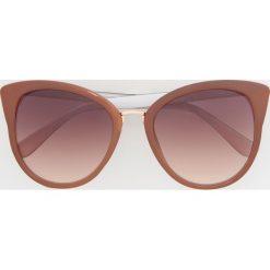 Okulary przeciwsłoneczne - Różowy. Szare okulary przeciwsłoneczne damskie lenonki marki ORAO. Za 39,99 zł.