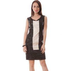 Sukienki hiszpanki: Sukienka w kolorze czerno-białym