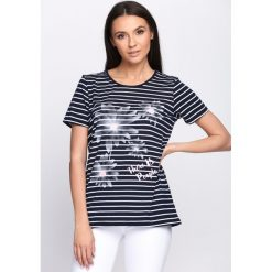 T-shirty damskie: Granatowy T-shirt Hummingbird