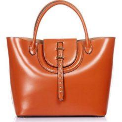 """Torebki klasyczne damskie: Skórzana torebka """"Diane"""" w kolorze karmelowym – 40 x 26 x 14 cm"""