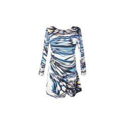 Sukienka Sunset. Niebieskie długie sukienki For heart, na co dzień, s, z nadrukiem, z dzianiny, z długim rękawem. Za 80,00 zł.