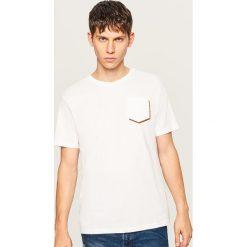 T-shirty męskie: T-shirt z kieszonką z przodu - Biały