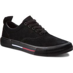 Tenisówki TOMMY JEANS - Oxford City Sneaker EM0EM00149  Black 990. Czarne tenisówki męskie marki Tommy Jeans, z gumy. W wyprzedaży za 319,00 zł.