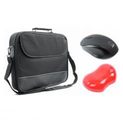 Plecaki męskie: Accura zestaw ProOffice Carlo ACC6003 15,6'' + mysz bezp. + podkładka Q-line