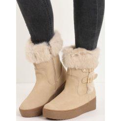 Beżowe Śniegowce Icicle. Czarne buty zimowe damskie marki Cropp. Za 99,99 zł.