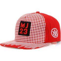 Czapka męska snapback czerwona (hx0200). Czerwone czapki z daszkiem męskie Dstreet, z aplikacjami, eleganckie. Za 69,99 zł.