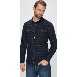 Premium by Jack&Jones - Koszula. Szare koszule męskie na spinki marki Premium by Jack&Jones, l, z bawełny, z włoskim kołnierzykiem, z długim rękawem. Za 259,90 zł.