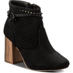 Botki JENNY FAIRY - WS17058 Czarny. Czarne buty zimowe damskie Jenny Fairy, z materiału, na obcasie. Za 119,99 zł.