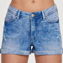 Szorty damskie: Jeansowe szorty mid waist – Niebieski