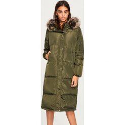 Płaszcze damskie: Puchowy płaszcz - Khaki