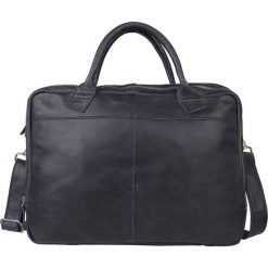 """Torby na laptopa: Skórzana torebka """"Fairbanks"""" w kolorze granatowym – 40 x 30 x 5 cm"""