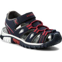 Sandały męskie skórzane: Sandały WALKY – CP44-5012 Granatowy