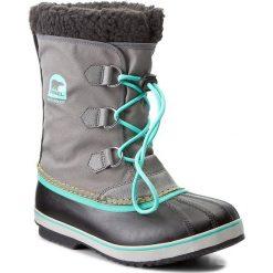 Kozaki dziewczęce: Śniegowce SOREL – Yoot Pac Nylon NY1879 Quarry/Dolphin 052