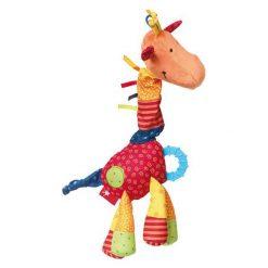 Przytulanka aktywizująca - Żyrafa z gryzakiem, grzechotką, piszczałką, wibracją i szeleszczącą folią - PlayQ  (40103). Szare przytulanki i maskotki marki SIGIKID. Za 93,99 zł.