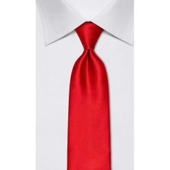 Krawaty męskie: Jedwabny krawat w kolorze czerwonym – szer. 8 cm