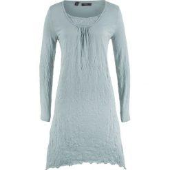 Sukienka kreszowana, długi rękaw bonprix srebrnoszary. Szare długie sukienki bonprix, z długim rękawem. Za 37,99 zł.