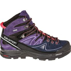 Buty trekkingowe damskie: Salomon Buty damskie X Alp Mid Ltr GTX W Black/Nightshade Grey/Coral Punch r. 38 (391947)