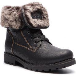 Trapery RIEKER - Z1418-00 Black 1. Czarne buty zimowe damskie marki Rieker, z materiału. Za 329,00 zł.