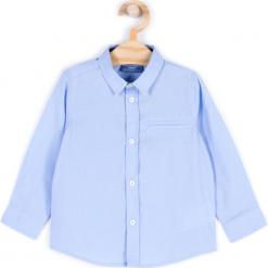Koszula. Niebieskie koszule chłopięce z długim rękawem marki ELEGANT BABY BOY, w paski, z bawełny, z klasycznym kołnierzykiem. Za 39,90 zł.