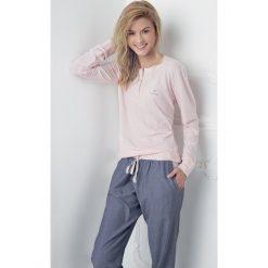 Piżamy damskie: Damska piżama Alice różowoniebieska