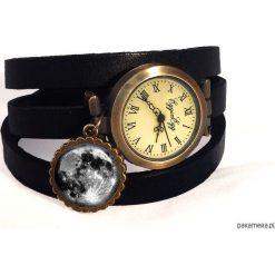 Bransoletki damskie: Bransoletka – zegarek skórzany Księżyc 0108
