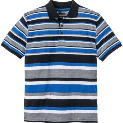 Koszulki polo: Shirt polo w paski Regular Fit bonprix czarno-lazurowy w paski