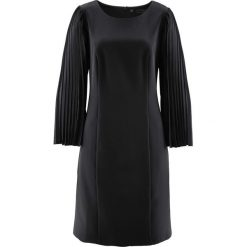 Sukienki balowe: Sukienka z plisowanymi rękawami bonprix czarny