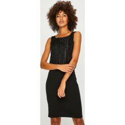 Vero Moda - Sukienka Shane. Szare sukienki mini marki Vero Moda, na co dzień, l, z elastanu, casualowe, z okrągłym kołnierzem, dopasowane. W wyprzedaży za 89,90 zł.