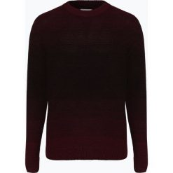 Jack & Jones - Sweter męski – Jortwin, czerwony. Czarne swetry klasyczne męskie marki Jack & Jones, l, z bawełny, z klasycznym kołnierzykiem, z długim rękawem. Za 99,95 zł.