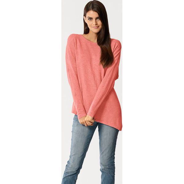 f1ae9a0d98447 Sweter w kolorze koralowym - Czerwone swetry klasyczne damskie marki ...