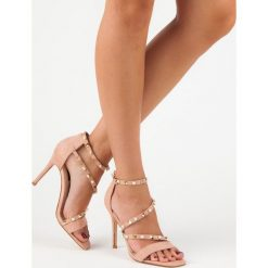 Rzymianki damskie: BELLO STAR różowe sandałki na szpilce różowe
