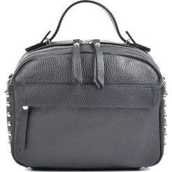 Torebki klasyczne damskie: Skórzana torebka w kolorze czarnym – 20 x 25 x 12 cm