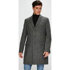 Tommy Hilfiger Tailored - Płaszcz. Czarne płaszcze na zamek męskie marki Tommy Hilfiger Tailored, z materiału. Za 1599,00 zł.