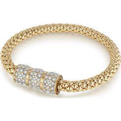 Bransoletki damskie na nogę: Pozłacana bransoletka z kryształkami