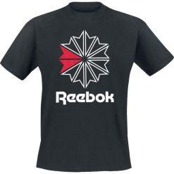Reebok GR Tee T-Shirt czarny. Czarne t-shirty męskie z nadrukiem Reebok, l, prążkowane. Za 79,90 zł.